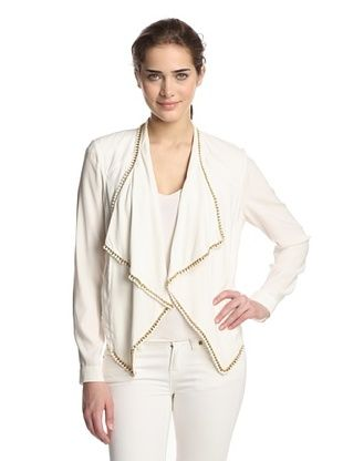 64% OFF Hale Bob Women's Jacket with Chain Trim (White)