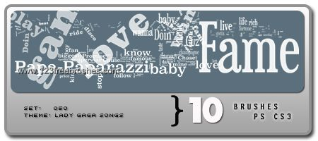 Lady Gaga Song Texts - https://www.123freebrushes.com/lady-gaga-song-texts/