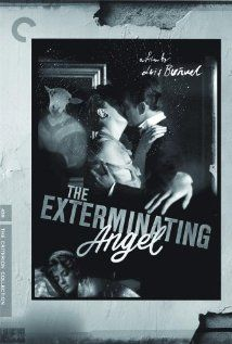 """The Exterminating Angel (aka El Angel Exterminador)"" (dir. Luis Buñuel, Spanish Language, 1962) --- Following an elegant dinner party, the guests begin to realize that they can't leave the house in this absurdist satire written and directed by surrealist maestro Luis Buñuel. With no servants, the upper-crust group slowly loses its civility. As conditions worsen, they descend into savagery."