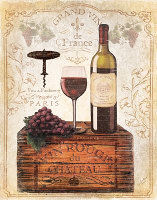 RB5060MC  Crated Wine Collage II  11x14