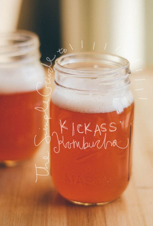 A simple recipe guide to home brewed kombucha, the fizzy fermented tea. This healthy vegan drink is packed with probiotics and tasty carbonated flavor! The perfect low-sugar substitute for soda and juice. // Live Eat Learn