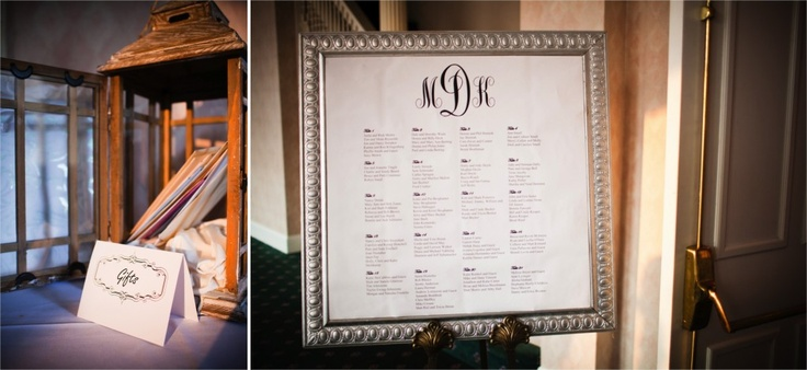 Monogram. Wooden above cake table?