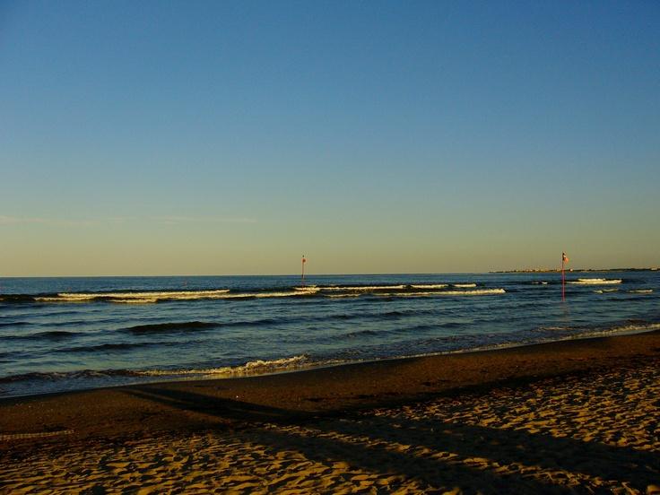 Chioggia - spiaggia al tramonto