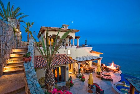 Seaside Home, Cabo San Lucas, Mexico  (Not to this house, but Cabo San Lucas...DAMN I wish I could be back there now!!)