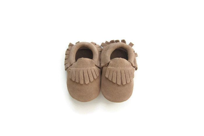 Baby Moccasins in Butterscotch - Suede // baby feet toddler mocs baby mocs first birthday baby shower soft shoes leather by WrightDesignCo on Etsy https://www.etsy.com/listing/243177027/baby-moccasins-in-butterscotch-suede