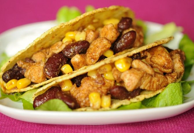 Csirkés taco