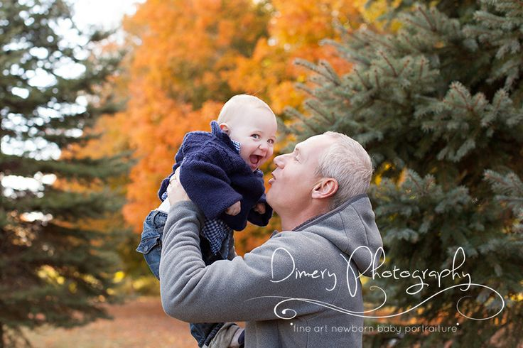 baby portrait, outdoor baby portrait, outdoor one year picture, fall outdoor picture, baby and dad, father and son photo ideas © Dimery Photography 2013