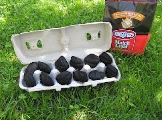 Smart idea for the braai - easy fire starter