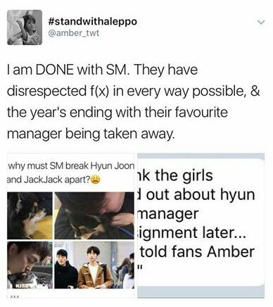 Their favorite manager is assigned to NCT and Amber cried ...
