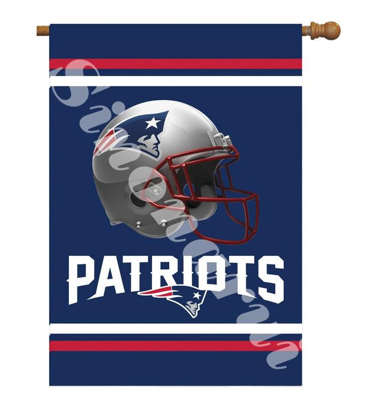 """New England Patriots Team Garden flag kintted polyester double sides 13""""X18"""" custom flag Home Deco Indoor Outdoor"""