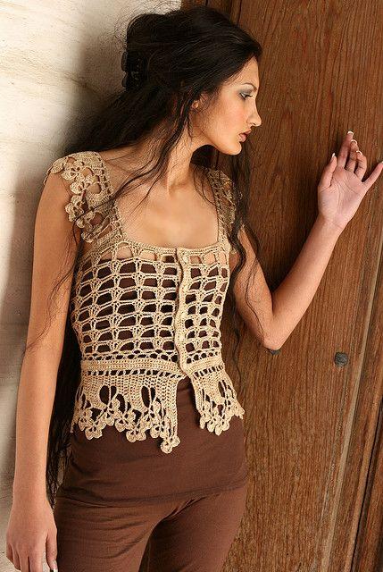 Ravelry: Crochet Vest - Cecilia Chemise pattern by Jennifer Hansen