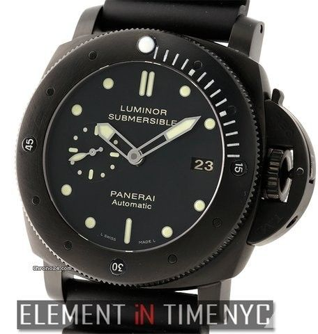 Panerai Luminor Submersible Collection 1950's DLCoated Titanium 47mm Reference #: PAM 305