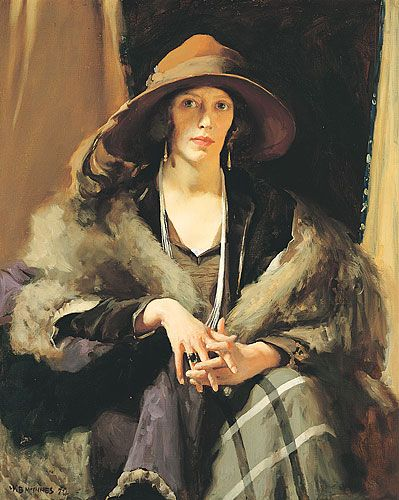 1924: Another W B McInnes painting took out the Archibald Prize – 'Portrait of Miss Collins'. Miss Gladys Neville Collins was a modern Melbourne woman of fashion, style and elegance. She was the daughter of J.T. Collins, lawyer, Victorian State Parliamentary draughtsman, and trustee of the Public Library, Museums and National Gallery of Victoria.