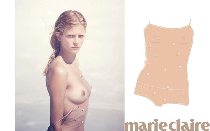 Our beautiful Rosamosario Pearl Body featured in @marieclaire and illustrated by @opentoe