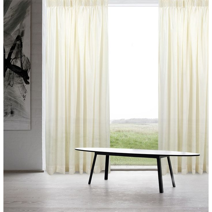 Makeover any room with stylish ready made & custom curtains & window blinds to suit any decor. Shop online for fast shipping & our price beat guarantee., Urban Interiors Cloud Voile Pencil Pleat Curtain Each