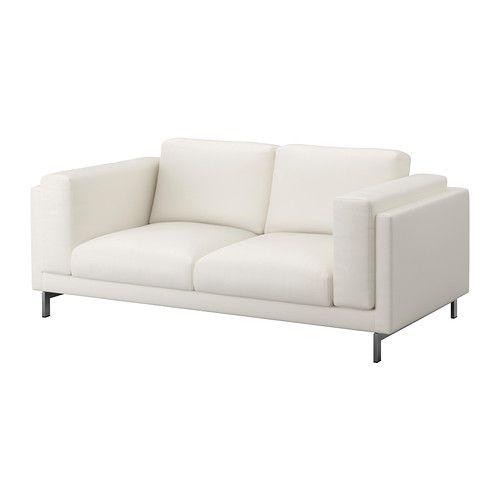 Nockeby sof 2 plazas risane blanco cromado ikea for Sofa nockeby
