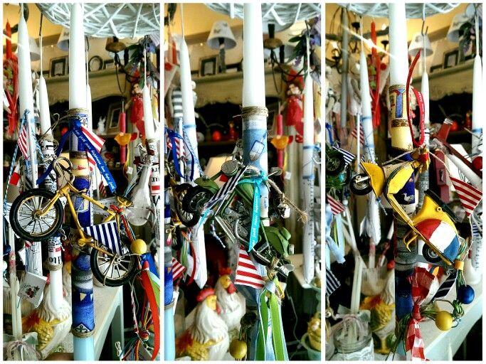 Πασχαλινές λαμπάδες και διακοσμητικά 2015 κατάστημα mánia | Πυλαρινού 37, Κόρινθος https://www.facebook.com/mania.korinthos