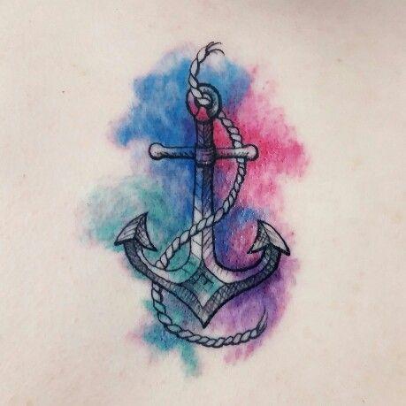 #tattoo #watercolortattoo #anchor