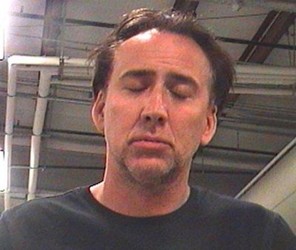 Nicolas Cage mug shot