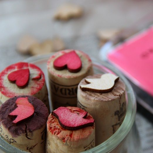 DIY cork stamps - use for stationary