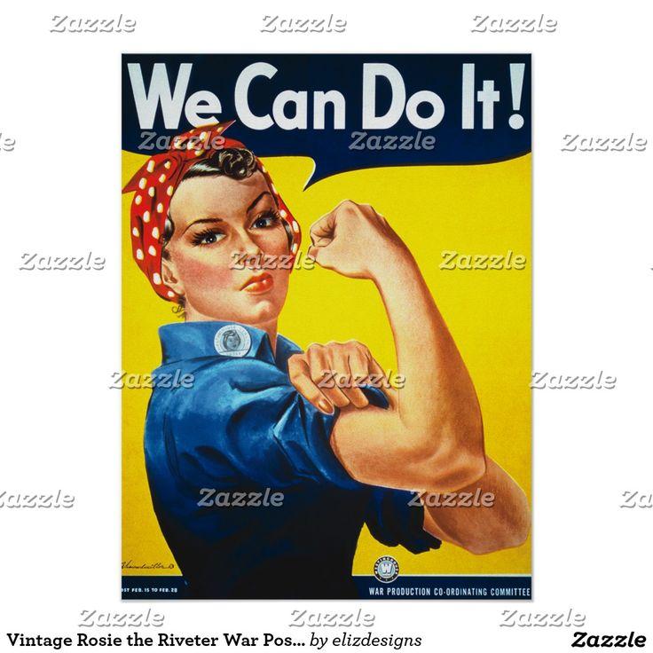 Vintage Rosie the Riveter War Poster