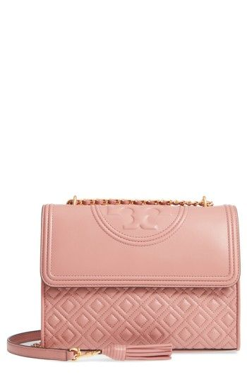 8a7dd82211c4 TORY BURCH FLEMING QUILTED LAMBSKIN LEATHER CONVERTIBLE SHOULDER BAG -  PINK.  toryburch  bags  shoulder bags  leather