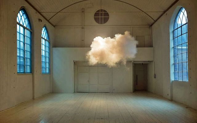Dutch artist Berndnaut Smilde has developed a way to create clouds indoors by carefully regulating the space's humidity, temperature and light.