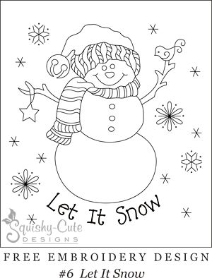 hand embroidery designs - snowman, Christmas | Free Embroidery Designs ...