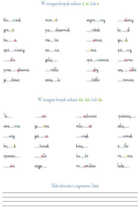 BLOG EDUKACYJNY DLA DZIECI: Podział wyrazów na litery i głoski