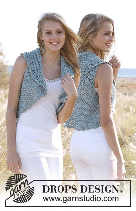 "Vivien DROPS Bolero in ""Merino Extra Fine"". ~ Free Crochet Pattern ~ Size S - XXXL | www.garnstudio.com"