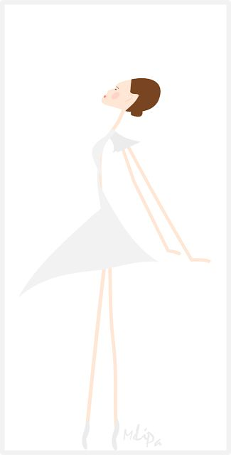 Ballerina Illustration with white background