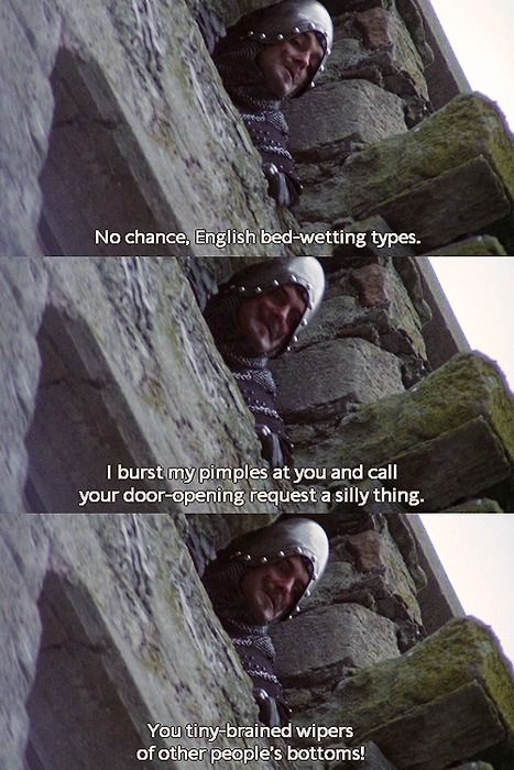 Monty Python and the Holy Grail- French insults