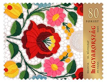 Hungary, 2012. 85th Stamp Day Series - The 80 Ft stamp of the series features Kalocsa embroidery