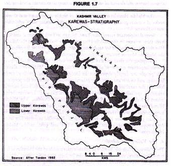 Kashmir Valley Karewas-Stratigraphy