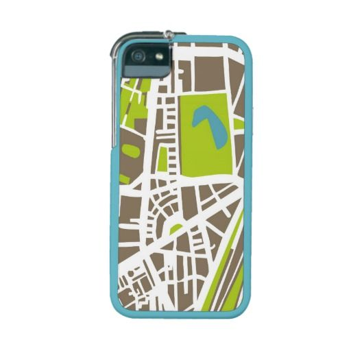 Abstract city map with white streets, dark brown buildings, green park and blue ponds. Simply draft town plan illustration for globetrotter or uptown girl
