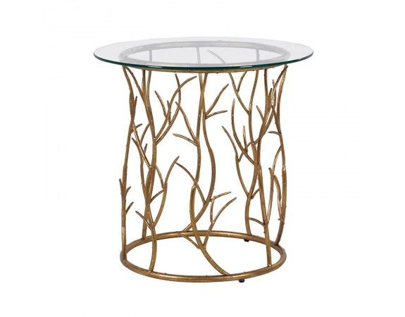 Gold Vine Circular Side Table
