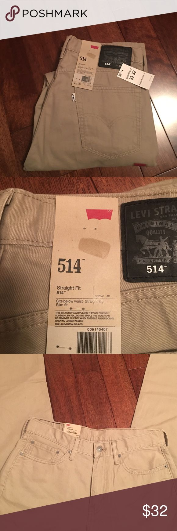 Men's Levi's 33x32 BRAND NEW WITH TAGS. Mens Levi's 33x32. Straight fit, style 514. Sits below waist. Straight leg. Slim fit. Levi's Jeans Straight