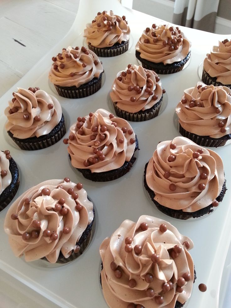 Chocolate cupcake with a nutella buttercream