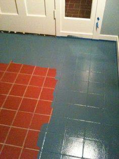 Paint over floor tiles