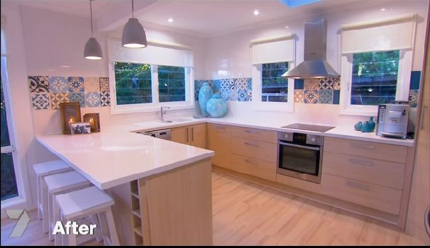 Michelle and Steve Kitchen and Dining House Rules Eliminiation @Sam McHardy Delafontaine is this the kitchen?