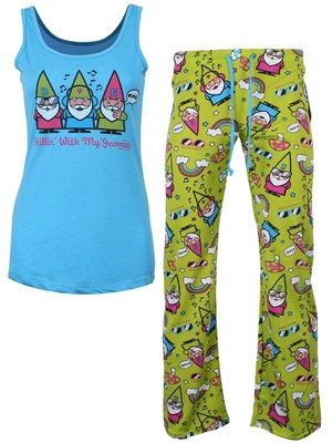 David & Goliath Gnomies Ladies Pyjama Set #david&goliath #pyjama# 'gnomes