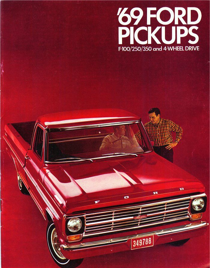 1969 ford f series pickup brochure 1969 ford f series. Black Bedroom Furniture Sets. Home Design Ideas