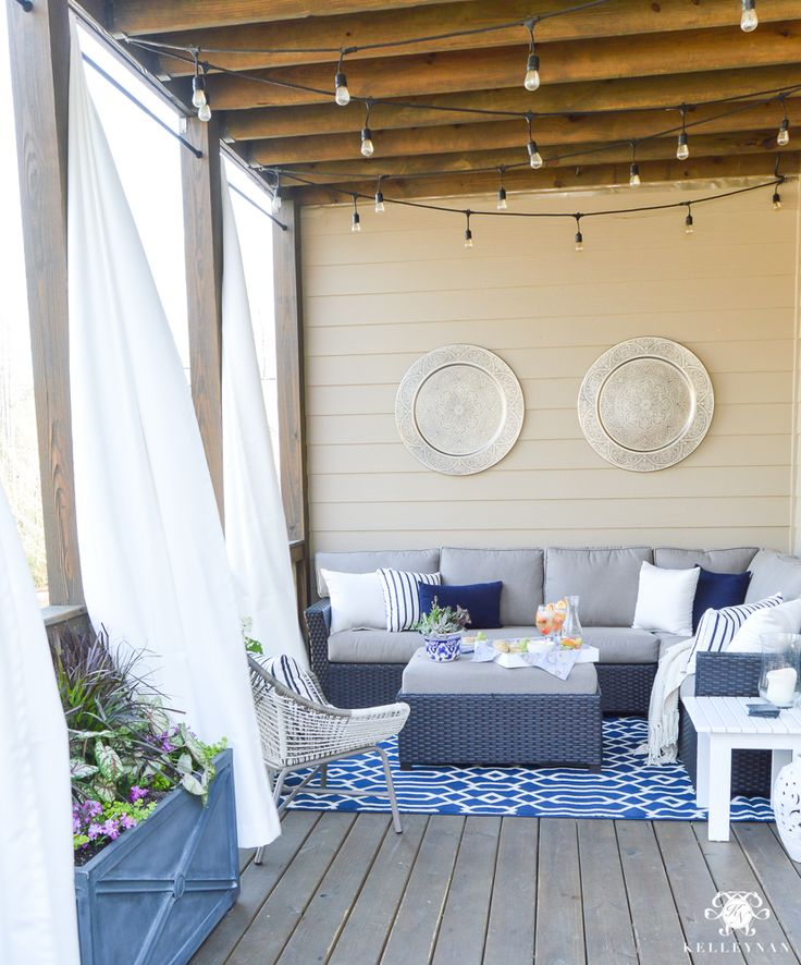A Porch Makeover and a Relaxing Date Night on the Deck - Kelley Nan