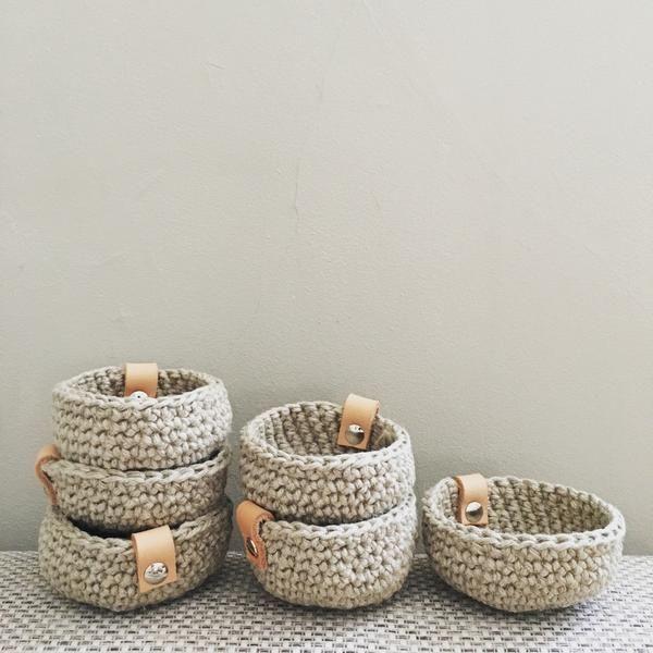Rustic linen Mini Nest – ChompaHandmade