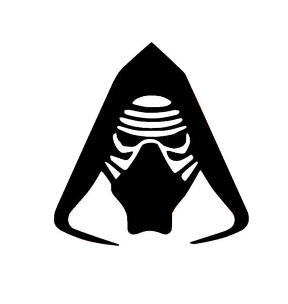 Star Wars Kylo Ren Mask Car or Truck Window Laptop Decal Sticker