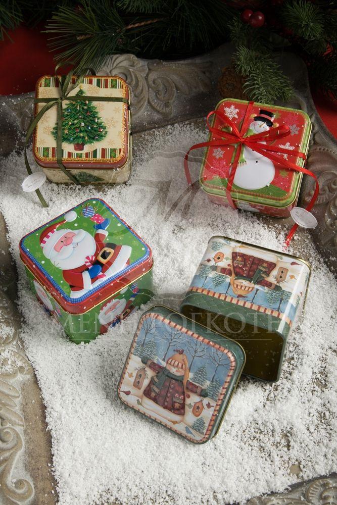 Χριστουγεννιάτικη μπομπονιέρα βάπτισης μεταλλικά κουτάκια, Christmas trinket boxes #ChristmasFavors #trinketboxes #Christmas
