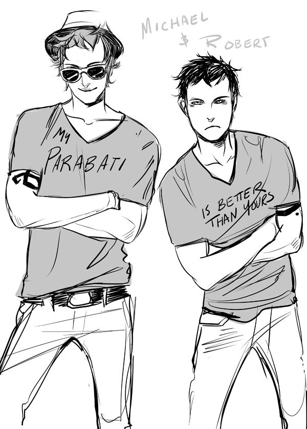 Young Circle art by Cassandra Jean ♪ My parabati brings all the boys to the yard, And they're like- He's better than yours, Damn right He's better than yours  ♪ Michael Wayland and Robert Lightwood