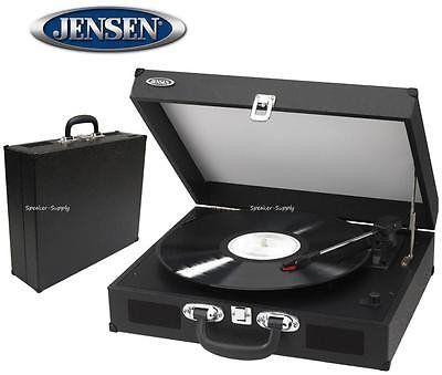 Jensen JTA-410 Black Turntable Stereo w/ Speakers Record Player Conver | Speaker-Supply