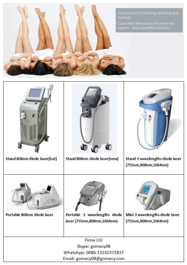 Professional Diode Laser Hair Removal Machine Painless Permanent