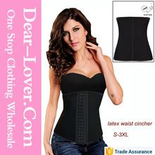 Sex women Black 4 Steel Bones Latex waist training Under Bust Corset     Best Seller follow this link http://shopingayo.space